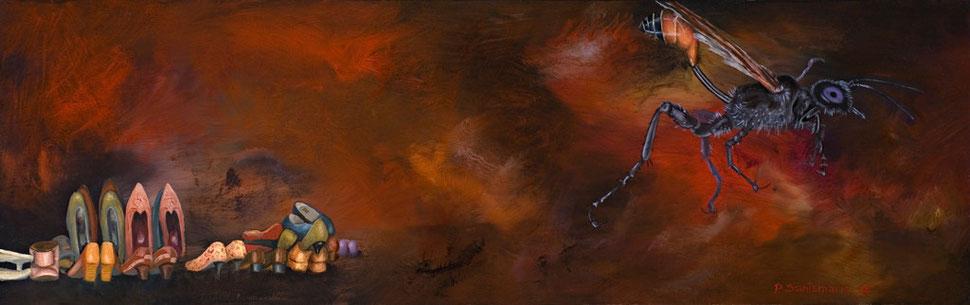 Madre I, 2007, óleo sobre madera 19X60 cm