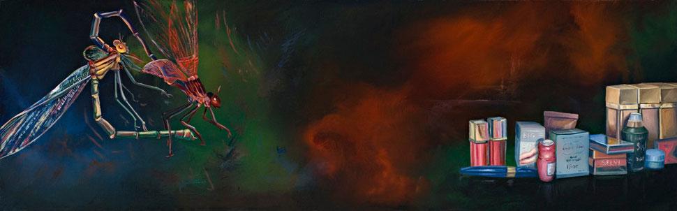 Madre II, 2007, óleo sobre madera 19X60 cm