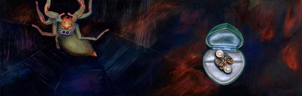 Madre III, 2007, óleo sobre madera 19X60 cm