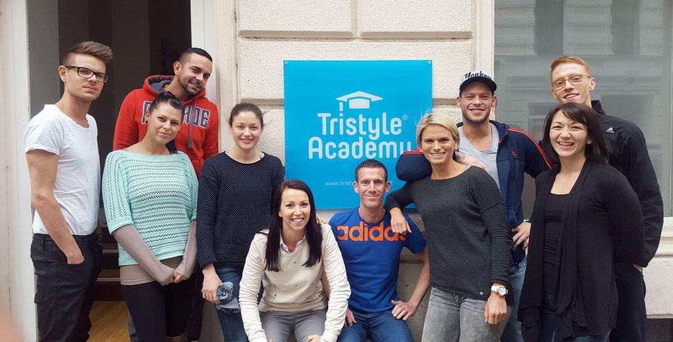 Teilnehmer der Tristyle Academy im Sommersemester 2016 mit Tristyle-Gründerin Elisabeth Niedereder