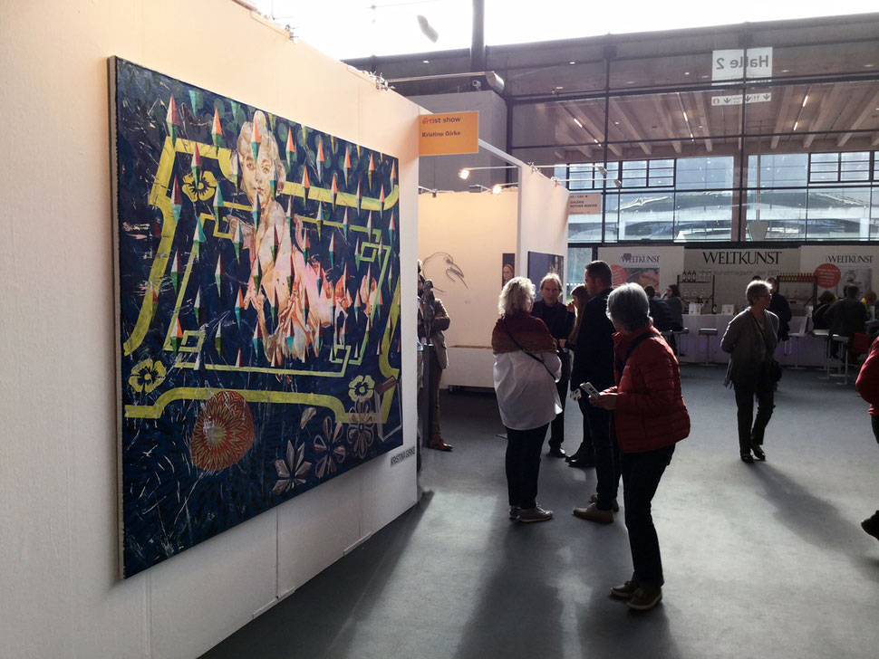 Installation View: ART FAIR Karlsruhe 2017, One-Artist-Show - Kristina Girke, Karlsruhe, Germany