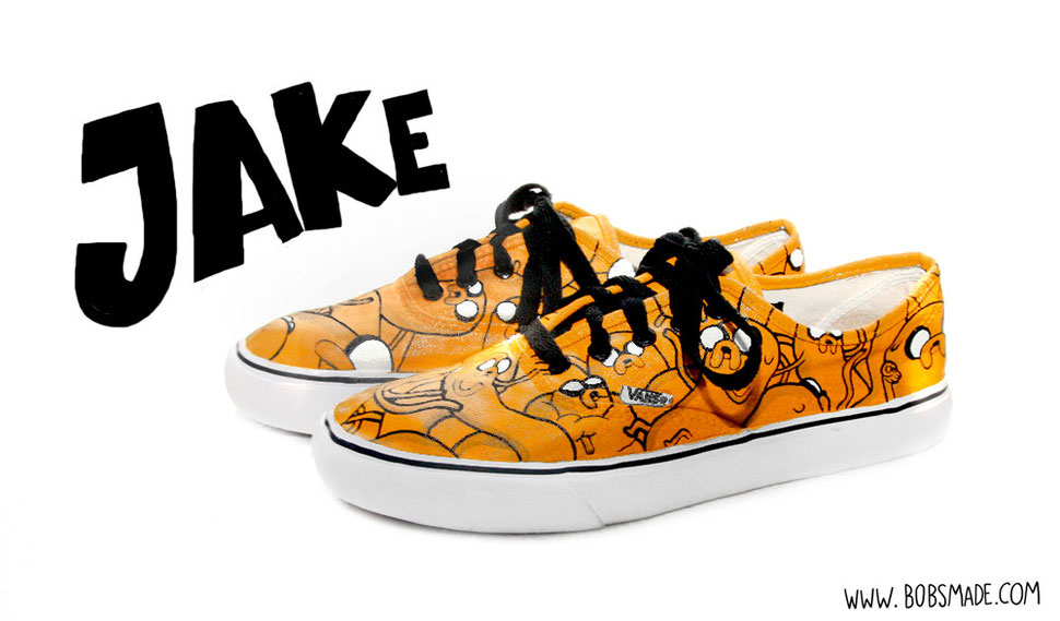 Jake Adventure Time custom painted shoes by bobsmade