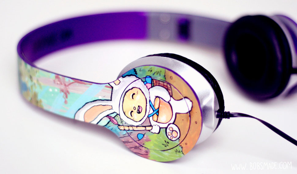 bobsmade headphones anart Easter Bunny teemo of league of legends