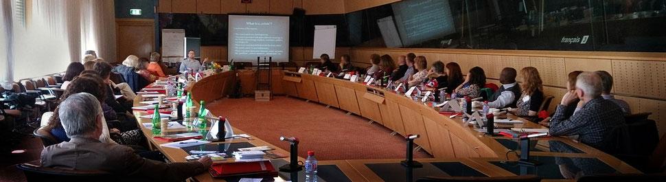 Krisenmanagement-Workshop für Mitarbeiter von EU-Parlament, Europäischer Komission und Europäischem Gerichtshof in Luxemburg