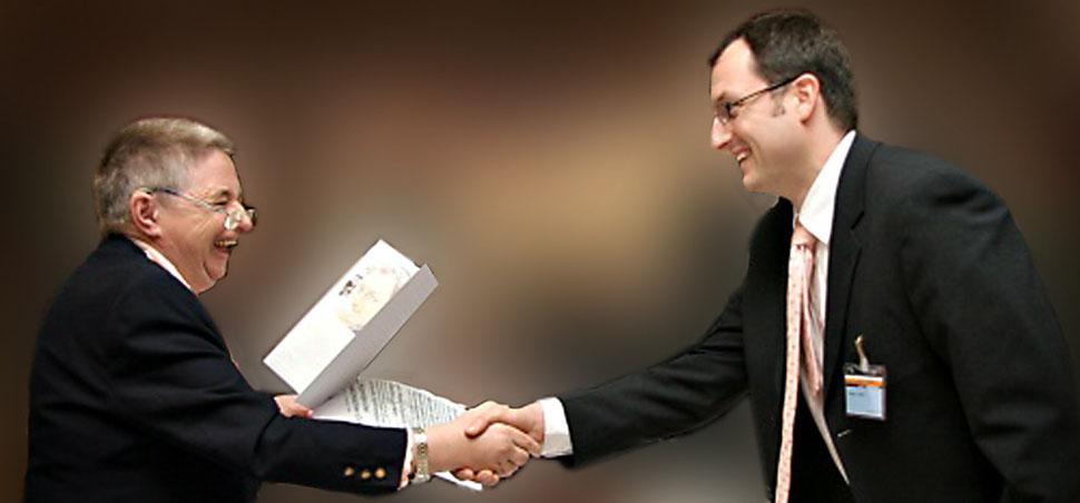Überreichung des Georg-Gottlob-Studienpreis für angewandte Psychologie