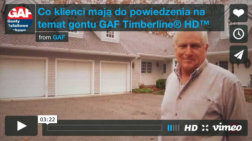 opinie klientów na temat gontu bitumicznego gaf timberline hd, na dachu znajdują się gonty bitumiczne gaf timberline hd