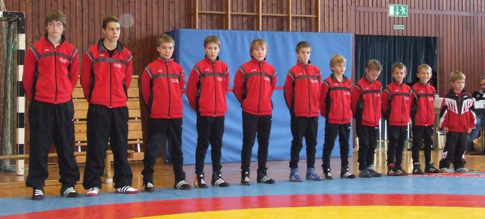 Jugendmannschaft 2007, die an den Aufstiegskämpfen zur südbadischen Jugendliga in Kandern teilnahm.