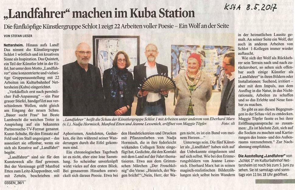 Kölner Stadt-Anzeiger vom 8. Mai 2017
