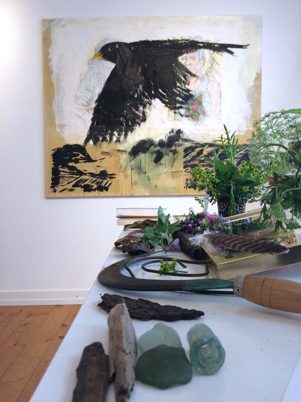 """Finissage der Ausstellung """"Schlot 1.3 - Landfahrer"""" im kuba Nettersheim : gleichzeitig ein Abschied der Schlotisten von Jean Lessenich"""