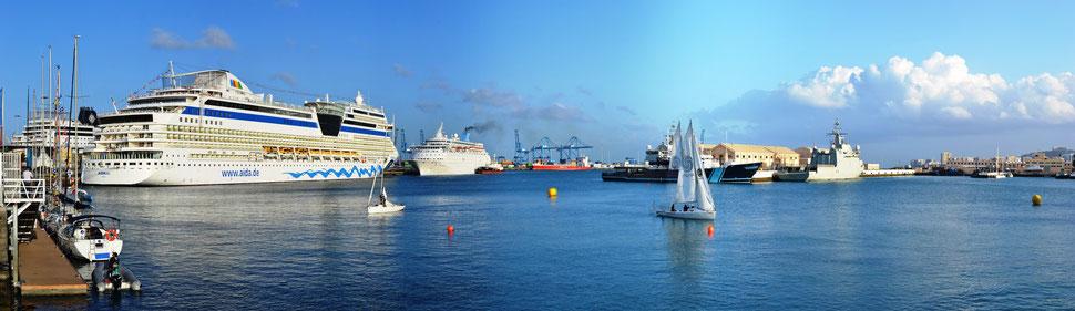 AIDAblu im Hafen von Gran Canaria