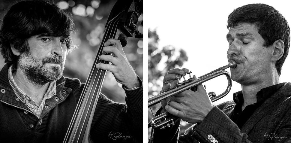 Blaise Chevallier & Mathieu Tarot Apéro dinatoire Jazz360, vendredi 4 juin 2021, restaurant les Acacias, Cénac. Photographie © Solange Lemoine