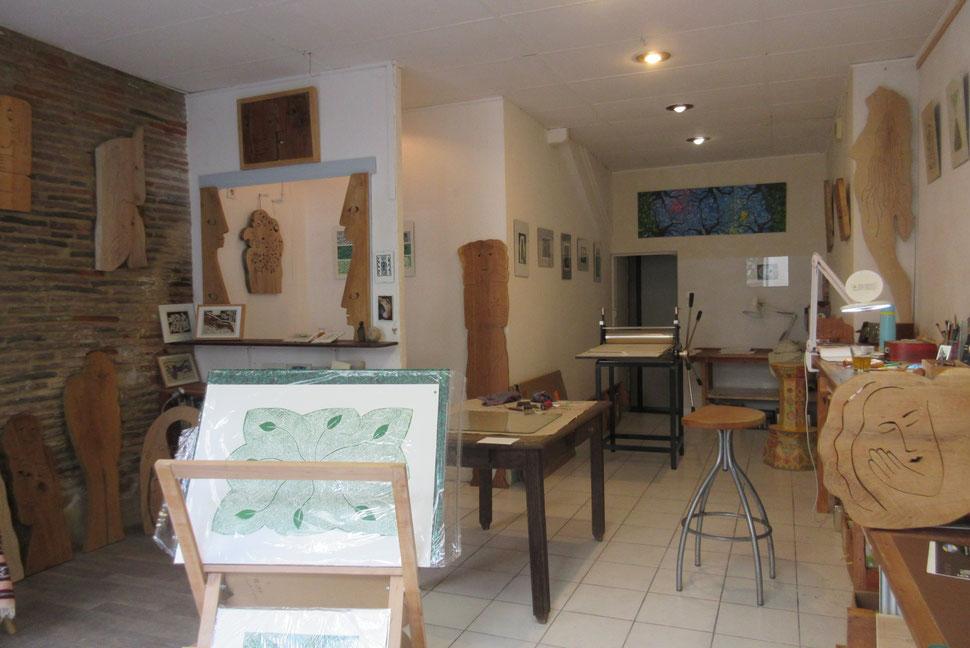 Mon nouvel atelier à Eauze,  44 rue ST July.