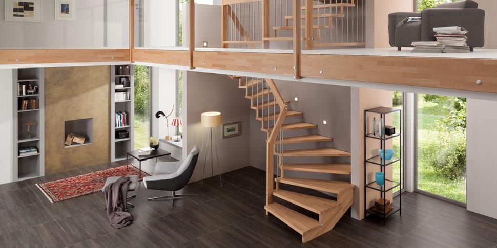 Bucher Treppen - moderne Treppenherstellung mit Präzision - Messebesuch bei BUCHER Treppen auf der Haus Holz Energie 2019 in Stuttgart