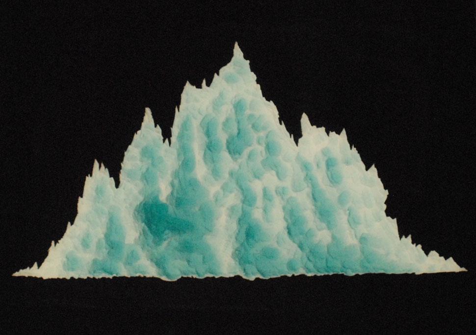 #4 Berg 1  -  Kunststoffplatte / Kunstharz  -  80 x 60  -  03.2018