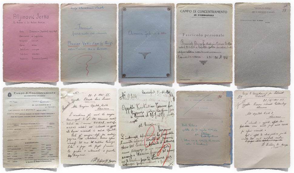 Alcuni esempi di fascicoli personali e documenti consultabili sul sito www.campocasoli.org