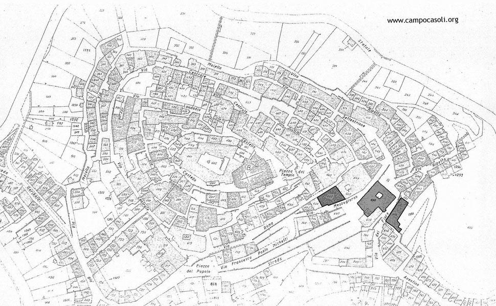 Le 3 sedi del Campo di Concentramento di Casoli