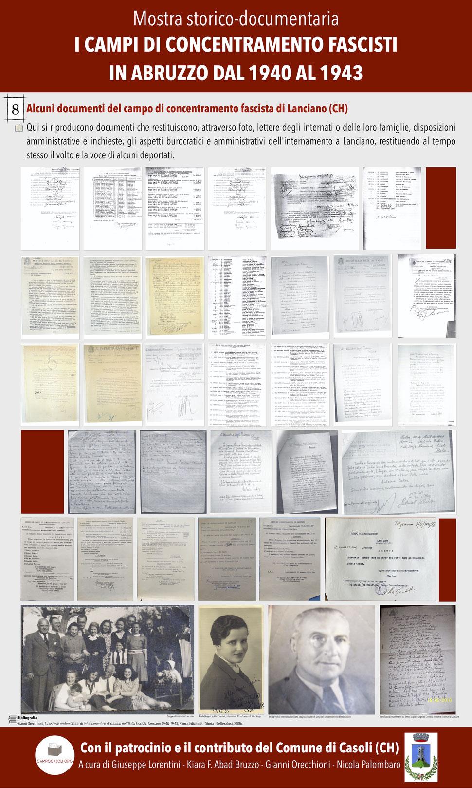 8. Alcuni documenti del campo di concentramento fascista di Lanciano (CH)