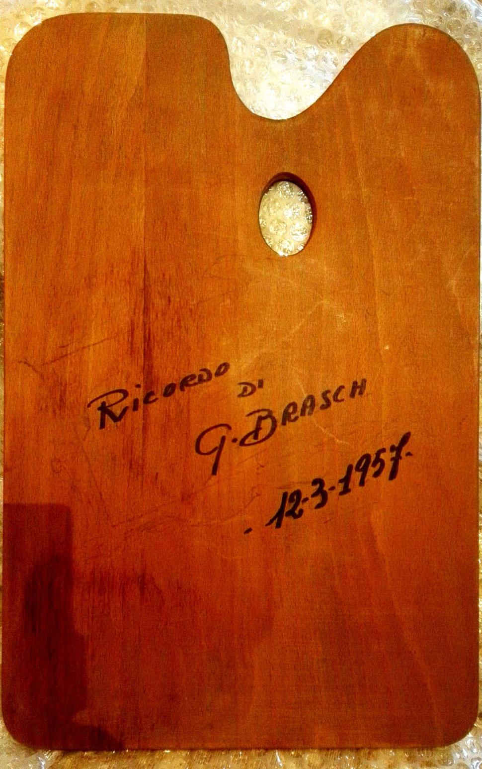 La tavolozza di Hans Brasch, per gentile concessione di Angelo Batti