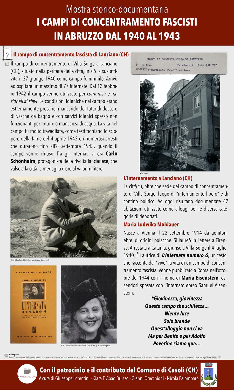 7. Il campo di concentramento fascista di Lanciano (CH)