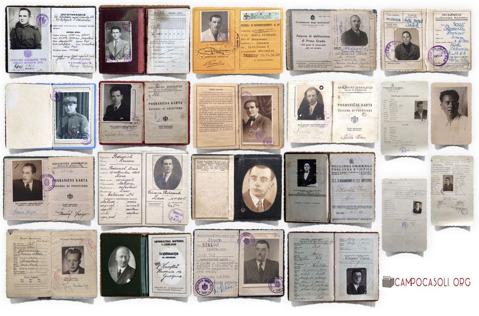 """Alcune foto degli internati """"ex jugoslavi"""" passati per il Campo di concentramento di Casoli tra il 1942 e il 1944."""