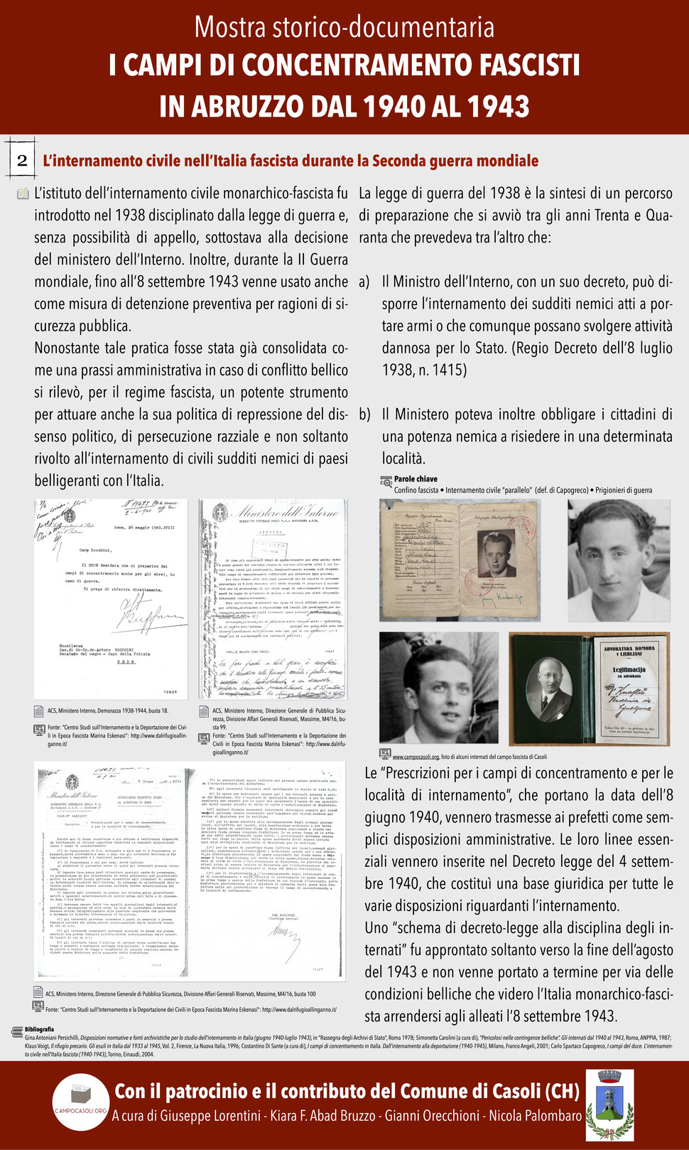 2. L'internamento civile nell'Italia fascista durante la Seconda guerra mondiale