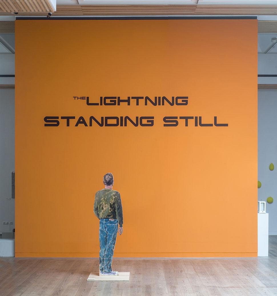 Susanne Koheil, The Lightning Standing Still, Wandarbeit, Gustav-Lübcke-Museum, Hamm