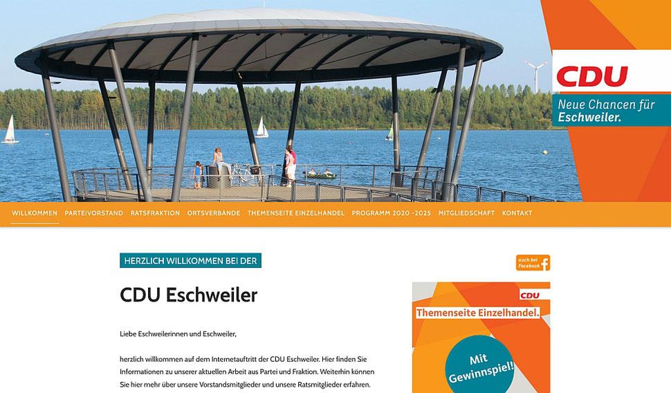 hansaconcept   Webdesign aus Lübeck für die CDU: Verbände (Gemeindeverband, Ortsverband, Kreisverband) nach der CI des CDU-Landesverbands NRW