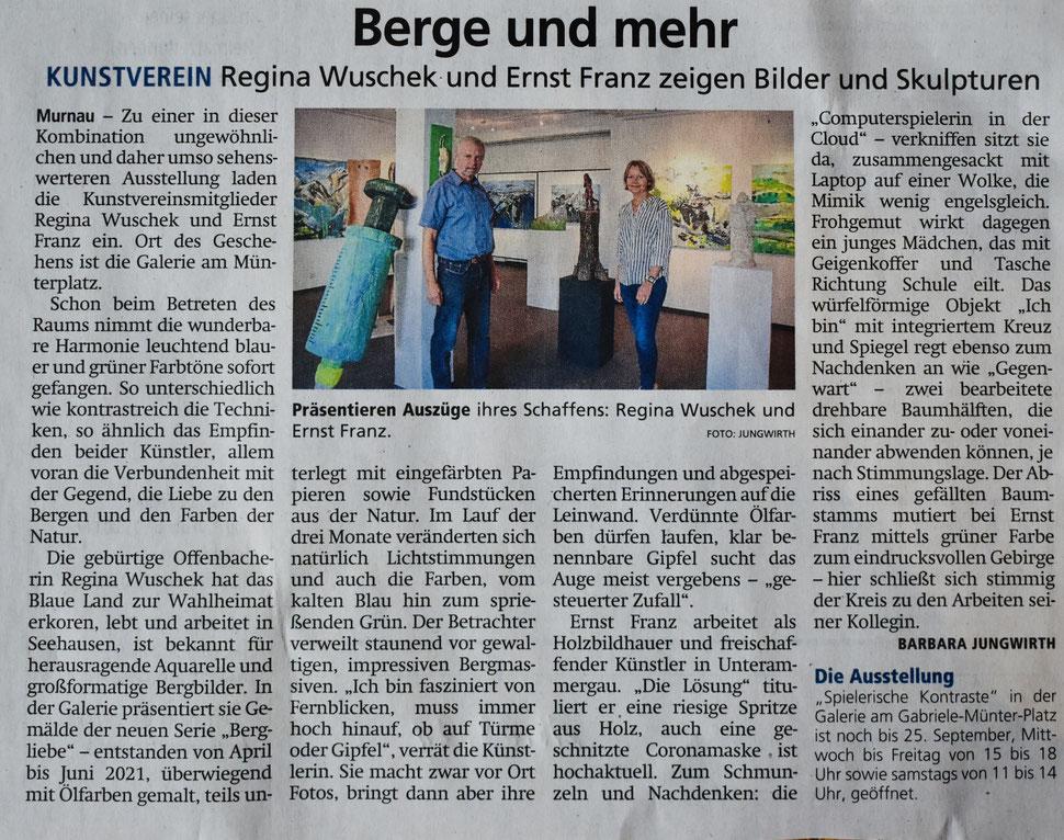 Regina Wuschek, Ernst Franz, Murnau, Kunst