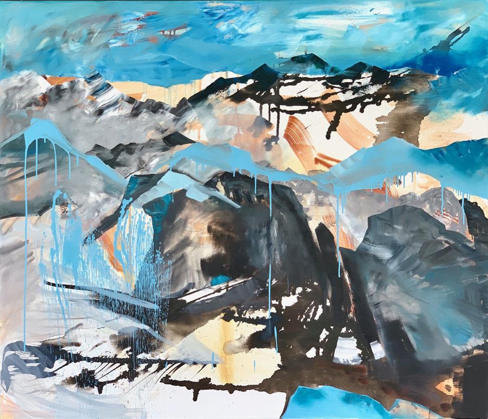 Regina Wuschek, Kunst in Murnau, Künstlerin im Blauen Land, Berge, Bergliebe