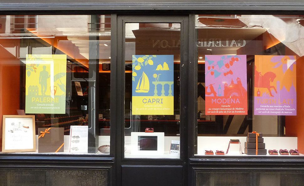 paper art, origami, papier, diy, scénographie, set design, deco, vitrine, luxe, chocolatier, voyage