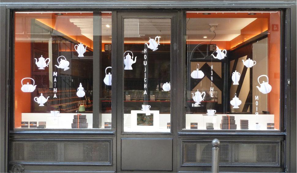 conception creation, set design decor scénographie, retail, vitrine luxe chocolat, papier, paper art, diy