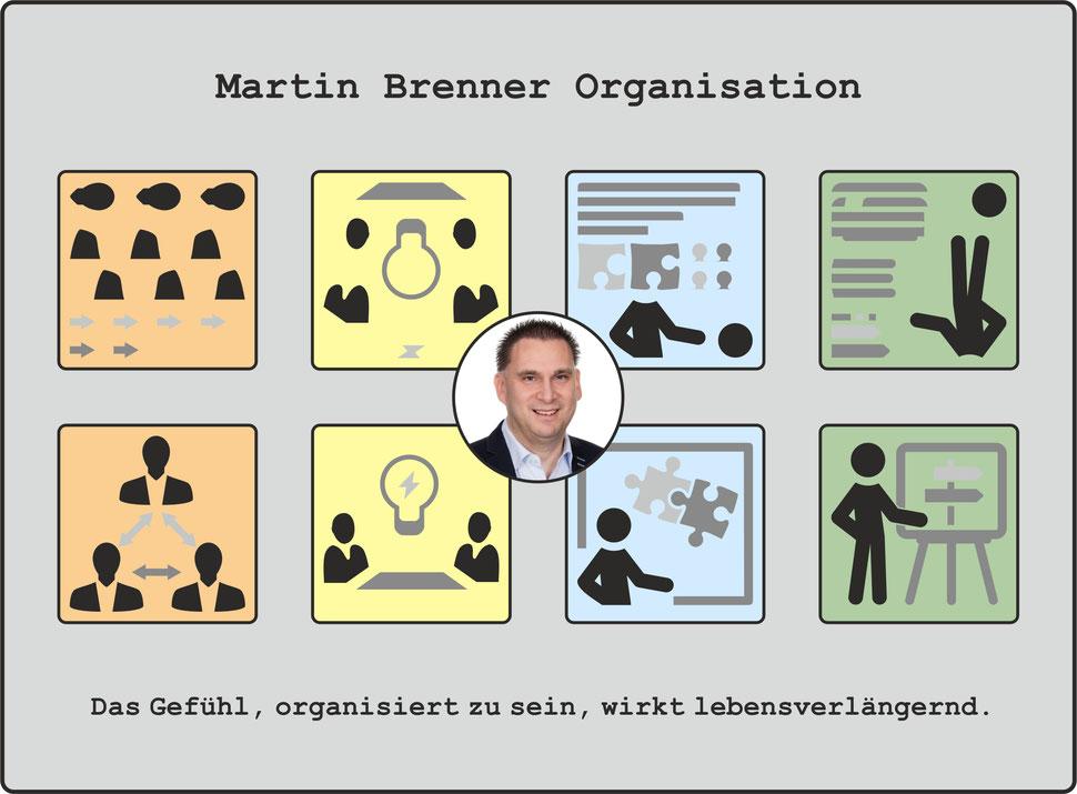 Martin Brenner Organisation - Das Gefühl, organisiert zu sein, wirkt lebensverlängernd.