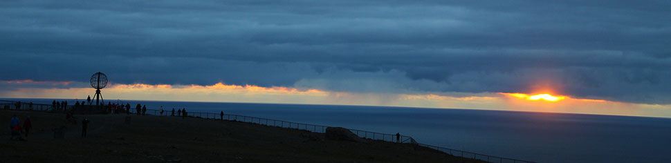 Soleil de minuit Cap Nord