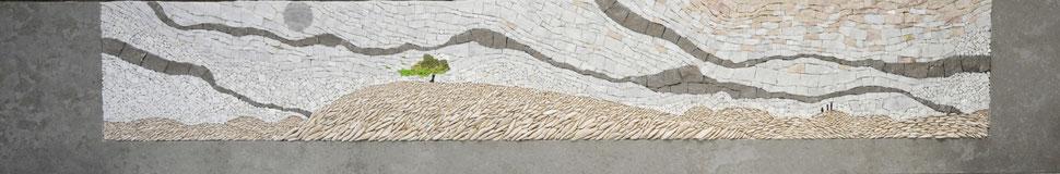 NUAGES ET COLLINES  150cmx25cm