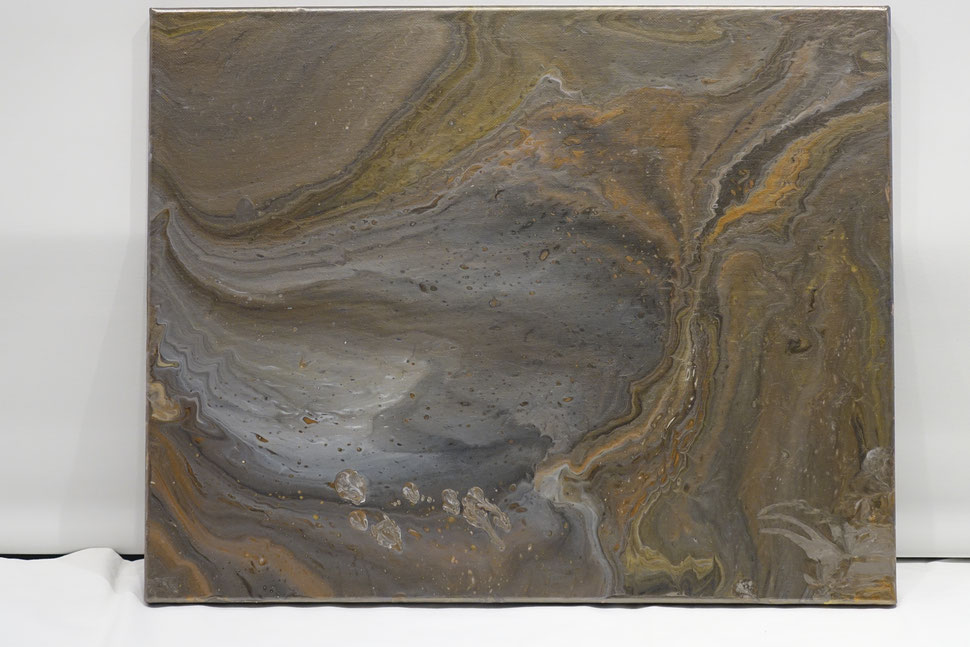 Acryl pouring, abstact schilderij,