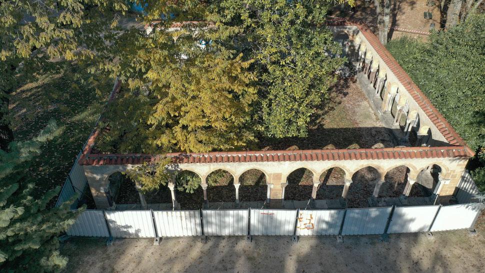 Photographie aérienne Tarbes - Parc et jardin Massey : le Cloître