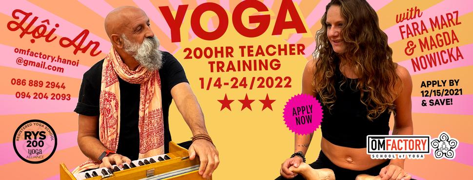 200 Hour Vinyasa Teacher Training - Om Factory - Yoga ...