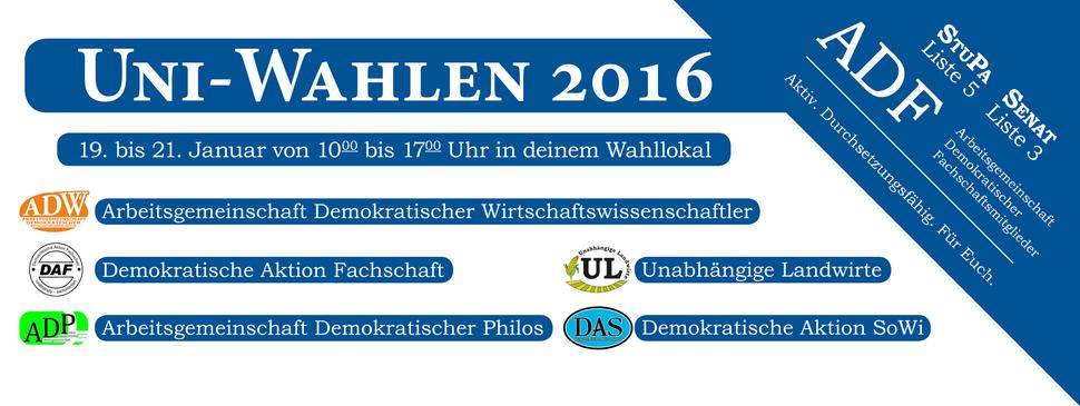 Wiwi 2016 Göttingen Universität Uni ADW Fachschaft FSR Fachschaftsrat Klausuren