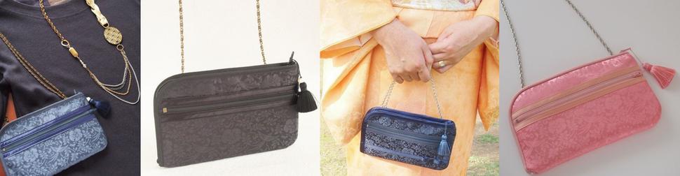 卒業式・謝恩会・入学式に持てるチェーンタイプの華やかなお財布ショルダーバッグ