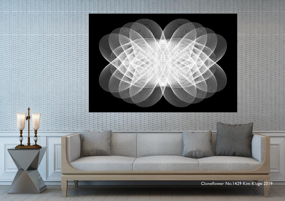 """www.kimkluge.com """"Cloneflower No 1429"""" Kim Kluge 2019"""