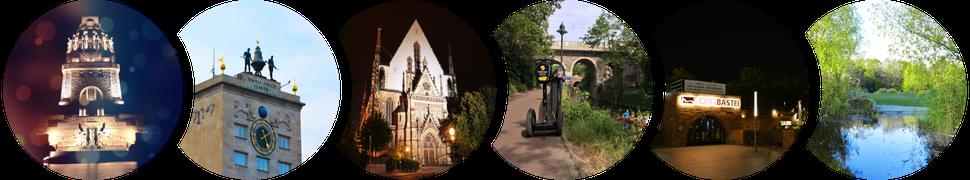 JGA Leipzig Segway Touren: Völkerschlachtdenkmal, Kroch-Hochhaus, Thomaskirche, Karl-Heine-Kanal, Moritzbastei, Zooschaufenster