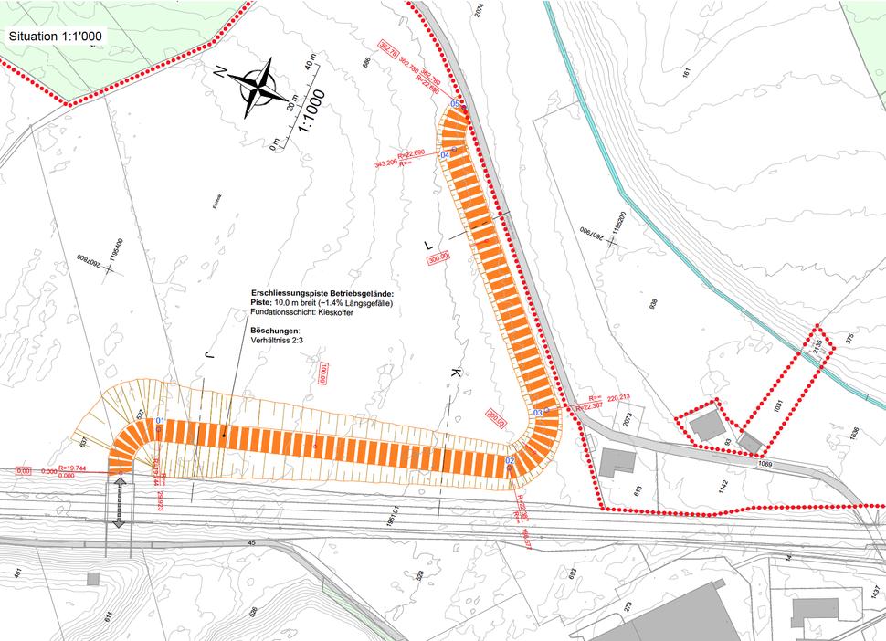 Die Schwarzbachstrasse wird nach Abschluss der Etappe 1 wieder an den ursprünglichen Standort rückverlegt.
