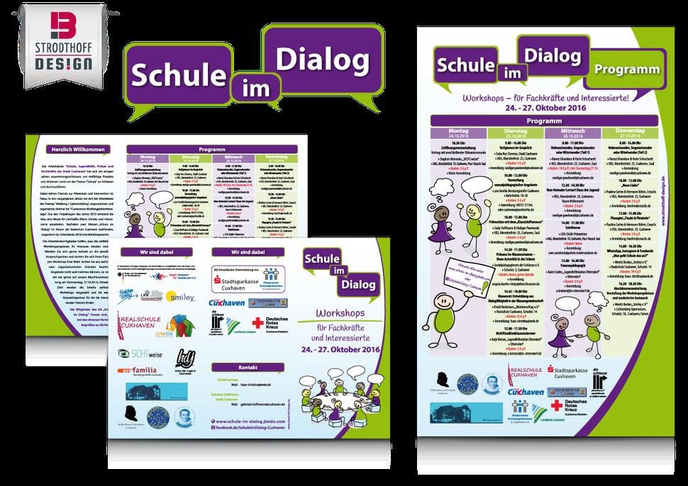 Corporate design f r schule im dialog strodthoff design for Design schule