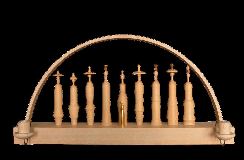Lichtgestalten, modern Krippe, Blattgold, Kerzen, Krippenfiguren, Erzgebirge, Volkskunst, handwerk, Lichterbogen, Schwibbogen