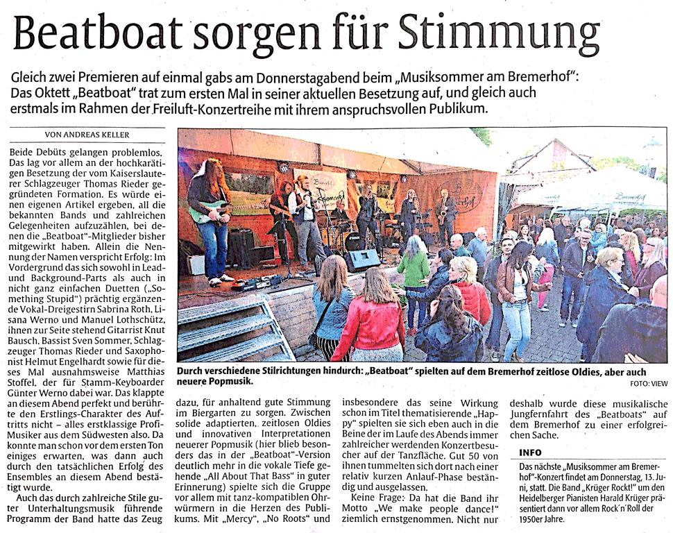 Beatboat - die Band für Stadtfest und Gala!