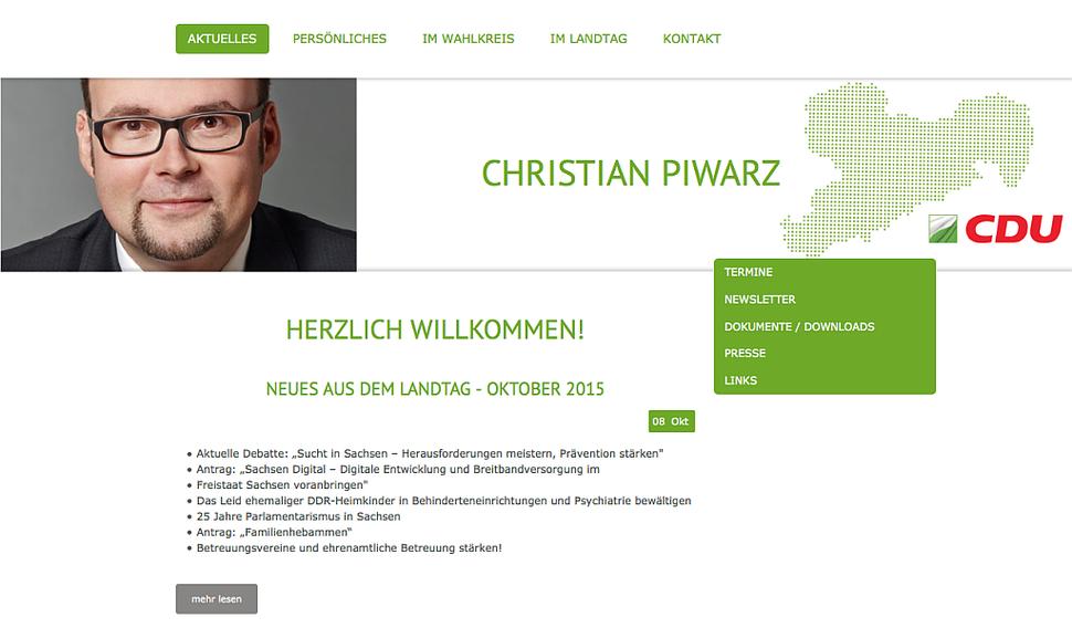 hansaconcept UG | Webdesign für Abgeordnete, Sächsischer Landtag (www.landtag.sachsen.de)