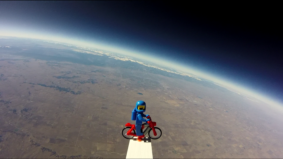 A GoPro shot of the Rockies from space via a weather balloon.