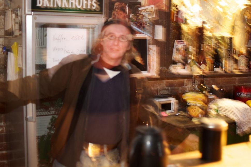 Norbert Then in seinem Atelier auf Fürst Leopold