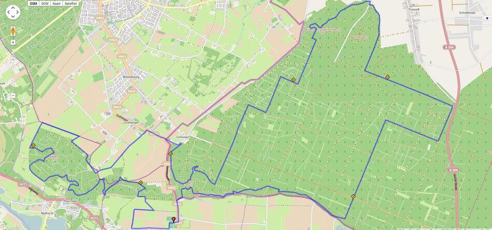 Ketelwald Trail parcour 32 km