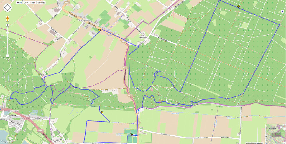 Ketelwald Trail parcours 16 km